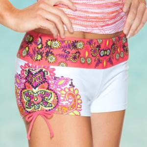 Love this style  for a swimsuit bottom!  Something different that some may be more comfortable in on the beach.