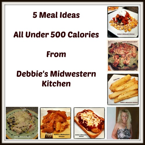 5 meal ideas all under 500 calories debbie 39 s midwestern for Kitchen ideas under 500